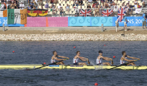 U.S. Army Capt. Matt Smith, left, World Class Athlete Program, competes in lightweight four rowing in the 2004 Olympics in Athens, Greece., autor: Master Sgt. Lono Kollars